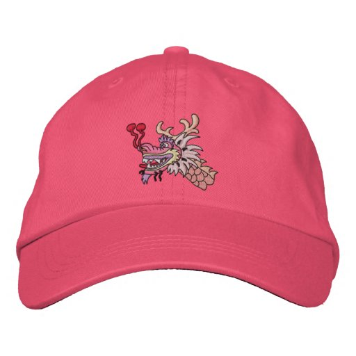 Pink Dragon Boat Embroidered Hat