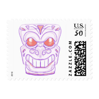 Pink Dragon Face Tribal Totem Mask Stamp