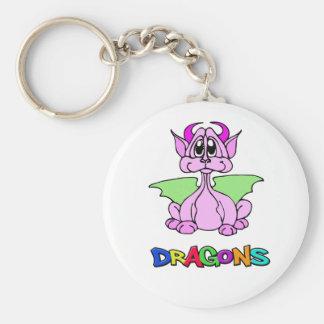 Pink Dragon Keychains