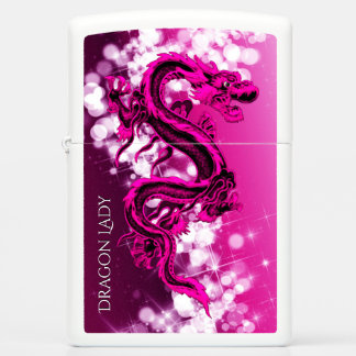 Pink Dragon Lady Zippo Lighter