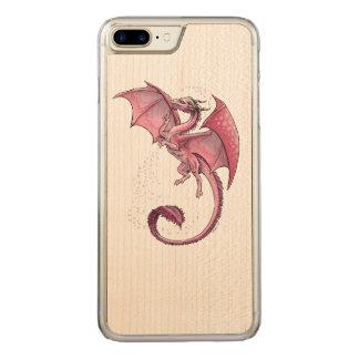 Pink Dragon of Spring Fantasy Art Carved iPhone 7 Plus Case