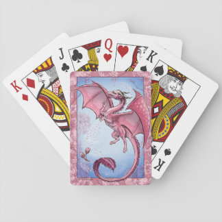 Pink Dragon of Spring Nature Fantasy Art Playing Cards