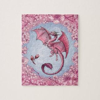 Pink Dragon of Spring Nature Fantasy Art Puzzles