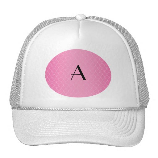 Pink dragon scales monogram hats