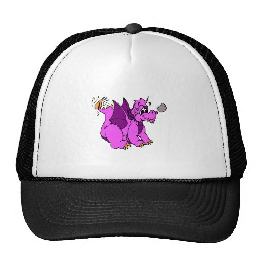 Pink Dragon Wagging Tail Trucker Hats