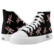 Pink Dragonfly Art High-Top Sneakers