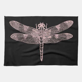 Pink Dragonfly Hand Towel