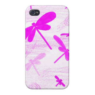 Pink Dragonfly iPhone 4 Case