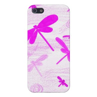 Pink Dragonfly iPhone 5 Case