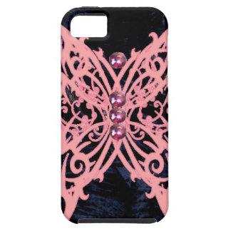 Pink Dragonfly/ Navy Velvet Design iPhone SE/5/5s Case