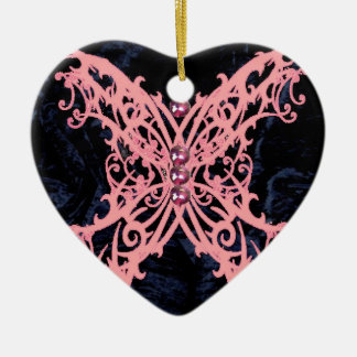 Pink Dragonfly/ Navy Velvet Design Christmas Tree Ornaments