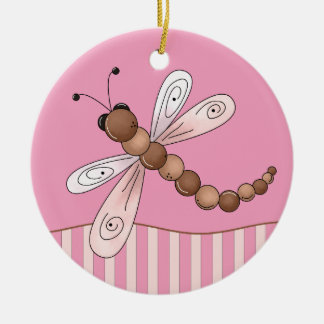 Pink Dragonfly Ornament