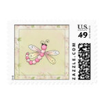 Pink Dragonfly Postage Stamp