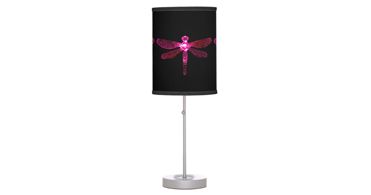 Pink Dragonfly Table Lamp