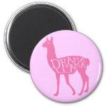 Pink Drama Llama Magnet