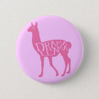 Pink Drama Llama Pinback Button