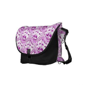 Pink Drama Mask Comedy Tragedy Messenger Bag