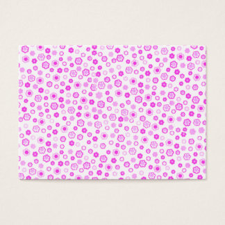 Pink Drawn Flowers Background Business Card