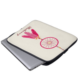 Pink Dream Catcher Electronics Bag Laptop Computer Sleeve
