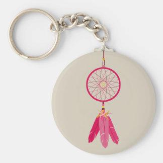 Pink Dream Catcher Keychain