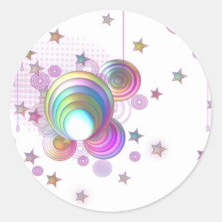 Pink dream classic round sticker