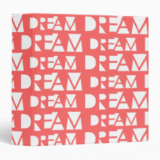 Pink Dream Geometric Cutout Print Binder