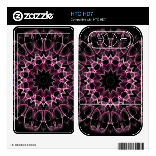 Pink Dream Kaleidoscope Skins For The HTC HD7