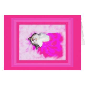 Pink dreams kitty card