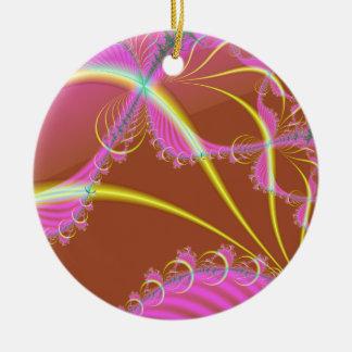 Pink Dreamscaping Ceramic Ornament