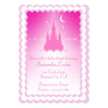 Pink Dreamy Castle In The Clouds Baby Shower Card