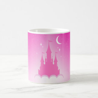 Pink Dreamy Castle In The Clouds Starry Moon Sky Coffee Mug