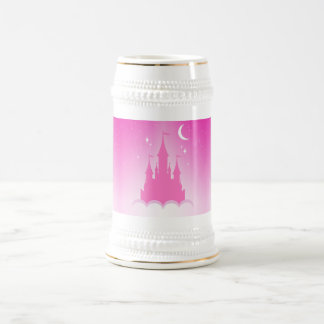 Pink Dreamy Castle In The Clouds Starry Moon Sky 18 Oz Beer Stein