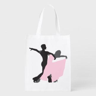 Pink Dress Ballroom Dance Grocery bag