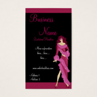 Pink Dress Fashion Lady Business Cards