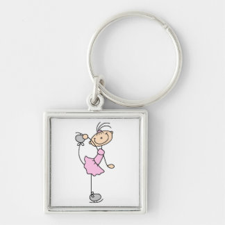 Pink Dress Figure Skater T-shirts and Gifts Keychain