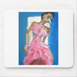 pink dress mouse pad