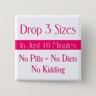 Pink Drop 3 Square Button