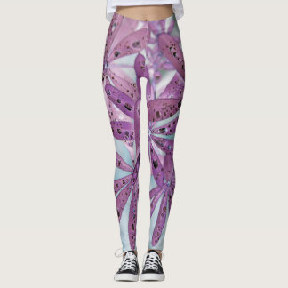 Pink Droplet and Petal Leggings
