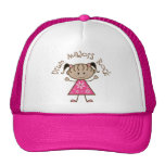 Pink Drum Majors Rock Stick Figure Mesh Hat