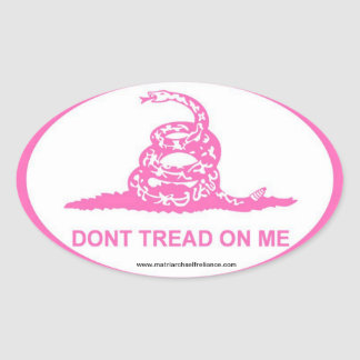 Pink DTOM Oval Sticker