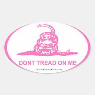 Pink DTOM Oval Sticker