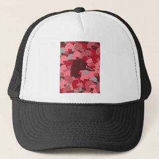 Pink Duck Head Camo Trucker Hat