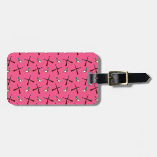 pink duck hunting pattern travel bag tags