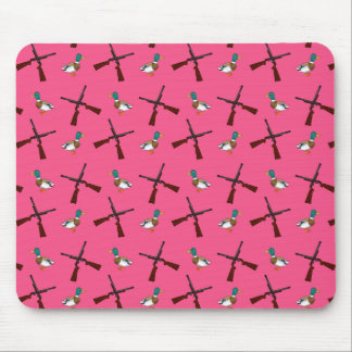 pink duck hunting pattern mouse pad
