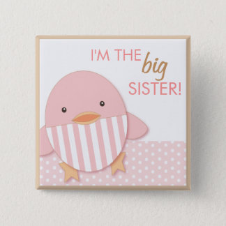 Pink Ducky Proud Big Sister Pin