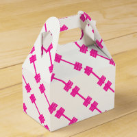 Pink Dumbbell / Barbell Favor Box
