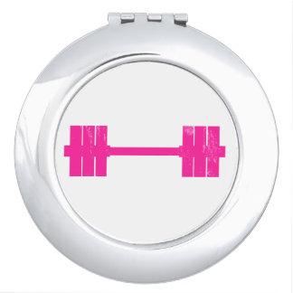 Pink Dumbbell / Barbell Vanity Mirror