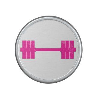 Pink Dumbbell / Barbell Speaker