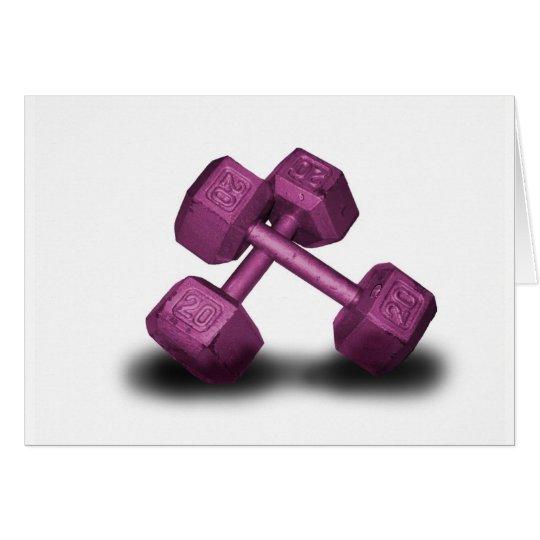 Pink Dumbbells Merchandise Card