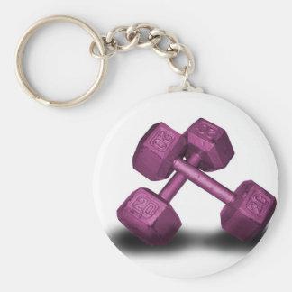 Pink Dumbbells Merchandise Keychain